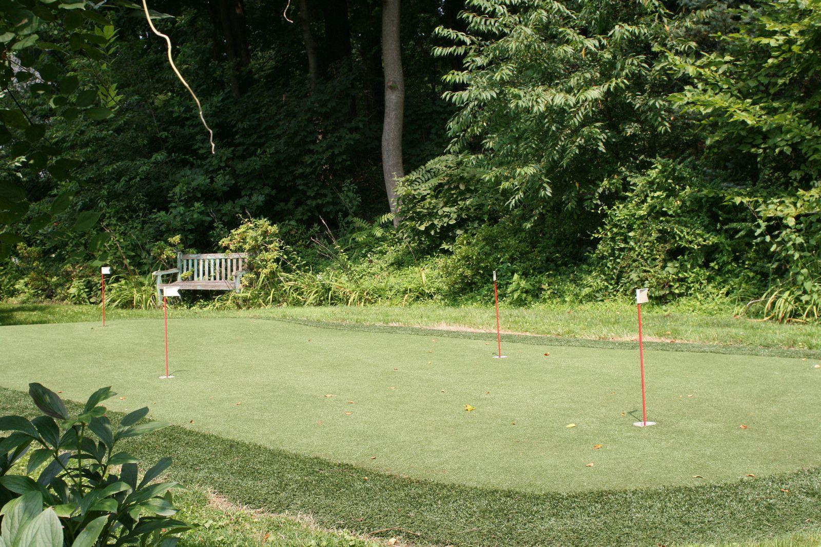 backyard golf course backyard and landscape designs