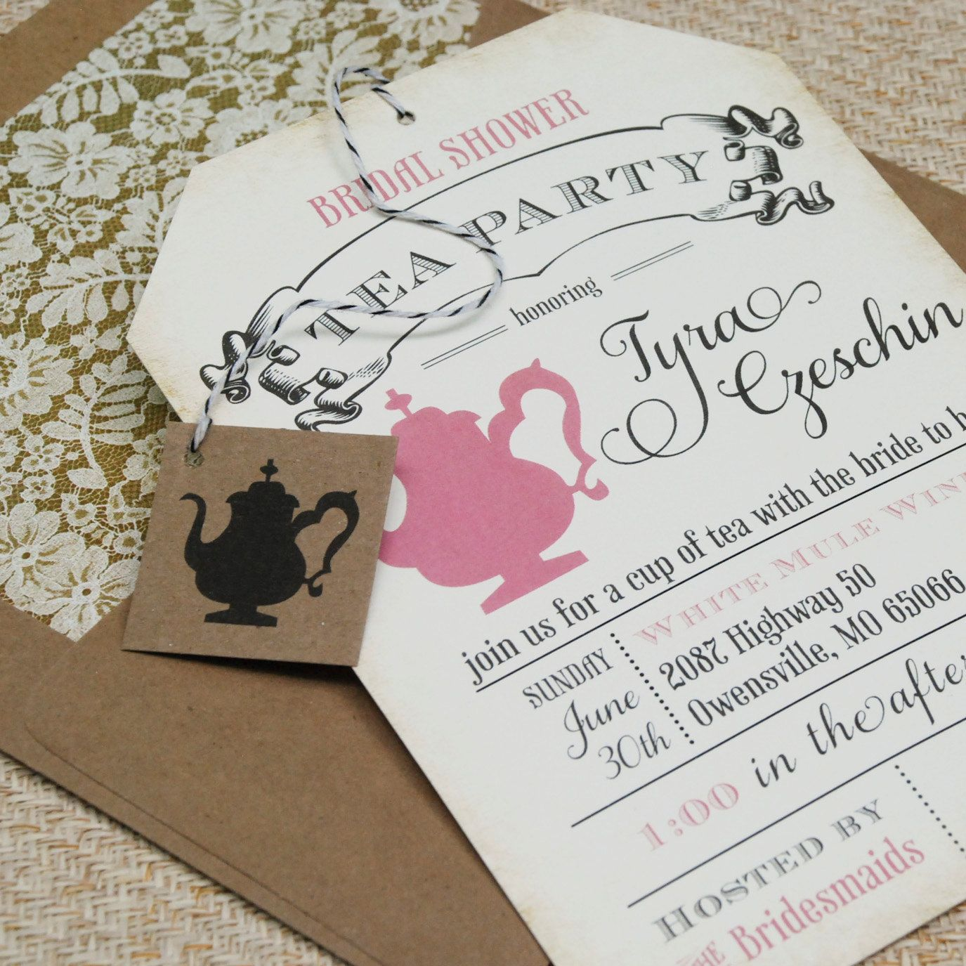 Ea party bridal shower invitation design fee bridal shower tea party invitation idea this is essentially the invite but with a few changes and diff monicamarmolfo Image collections