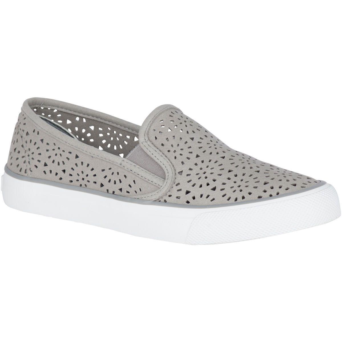 Women's Seaside Perforated Sneaker Grey | Work shoes women