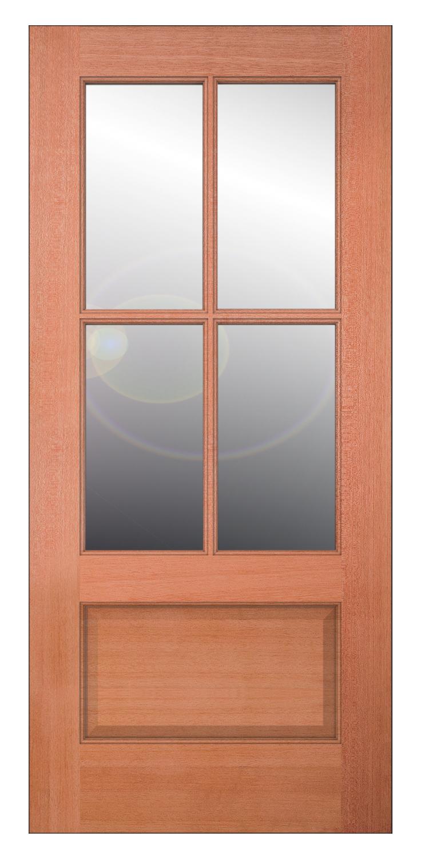 Authentic Wood Glass Panel Exterior Door Jeld Wen Windows Doors