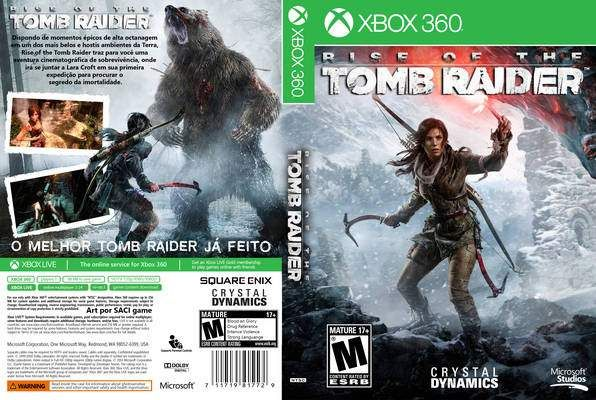 Rise Of The Tomb Raider Xbox 360 Cover Rise Of The Tomb Tomb Raider Tomb Raider Xbox 360
