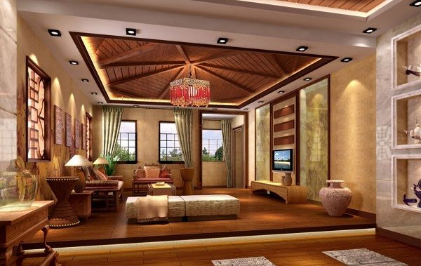 Room · Luxury Modern Pop Ceiling Bedroom Interior Decoration Ideas