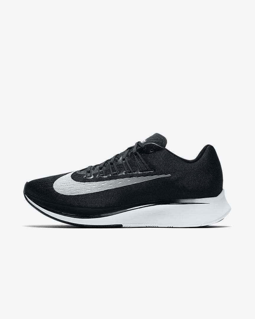 Nike Performance ZOOM FLY - Competition running shoes - black/white/anthracite Z1mncY