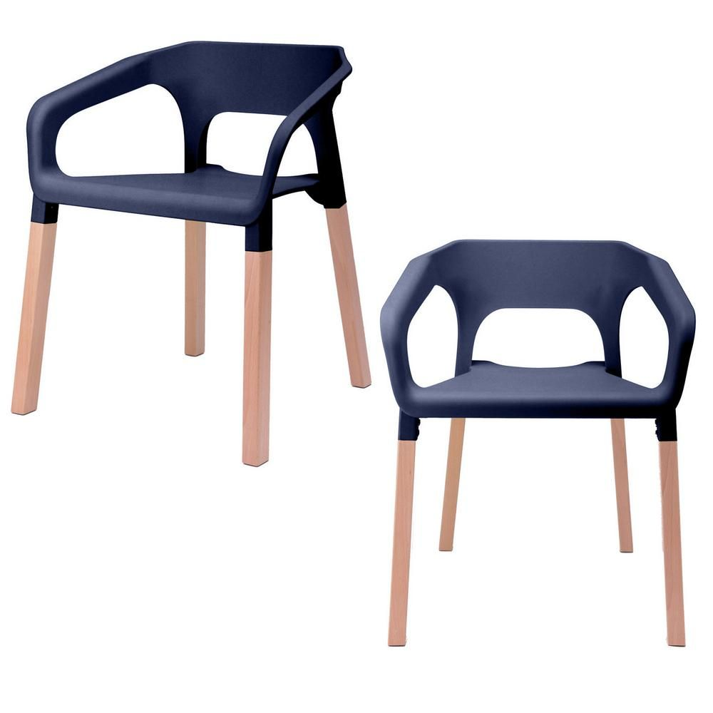 Stupendous Cozyblock Amy Series Navy Modern Accent Dining Arm Chair Cjindustries Chair Design For Home Cjindustriesco