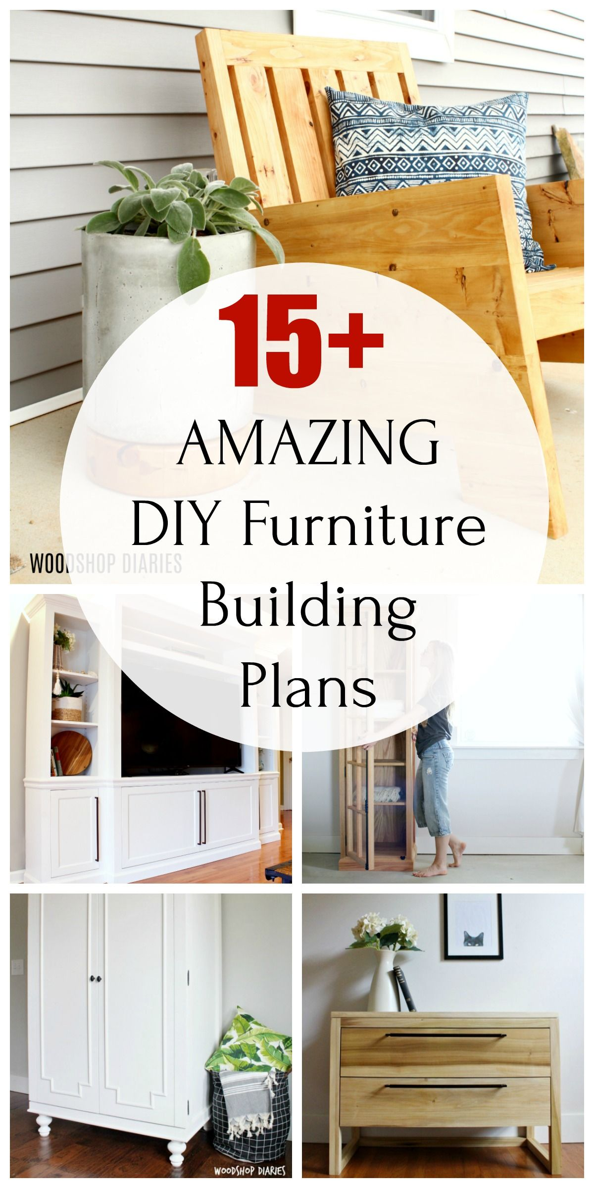 Printable DIY Furniture Building Plans in 2020 Diy