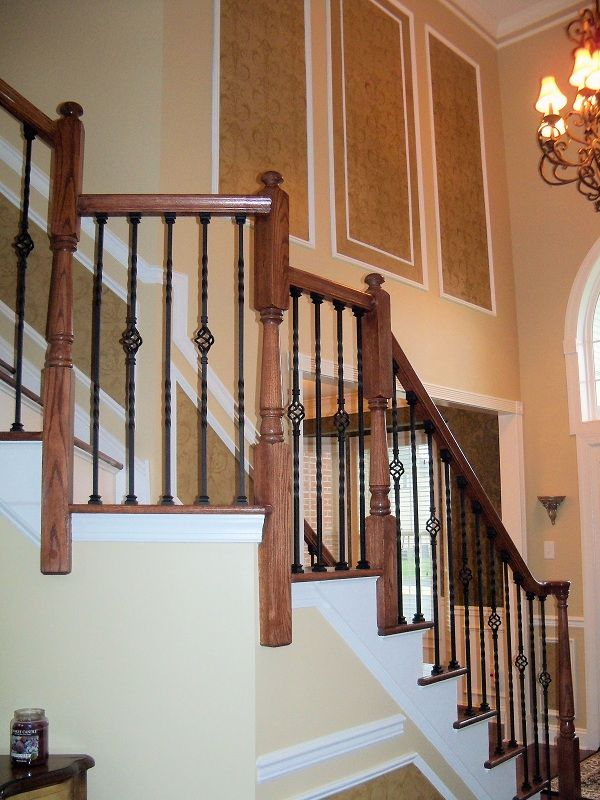 Two Story Foyer Molding : We installed custom panel molding in a story foyer then