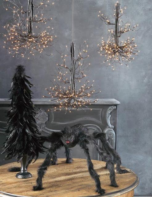RAZ Halloween Decorations RAZ Feather Tree and Lighted Branch - halloween lighted decorations
