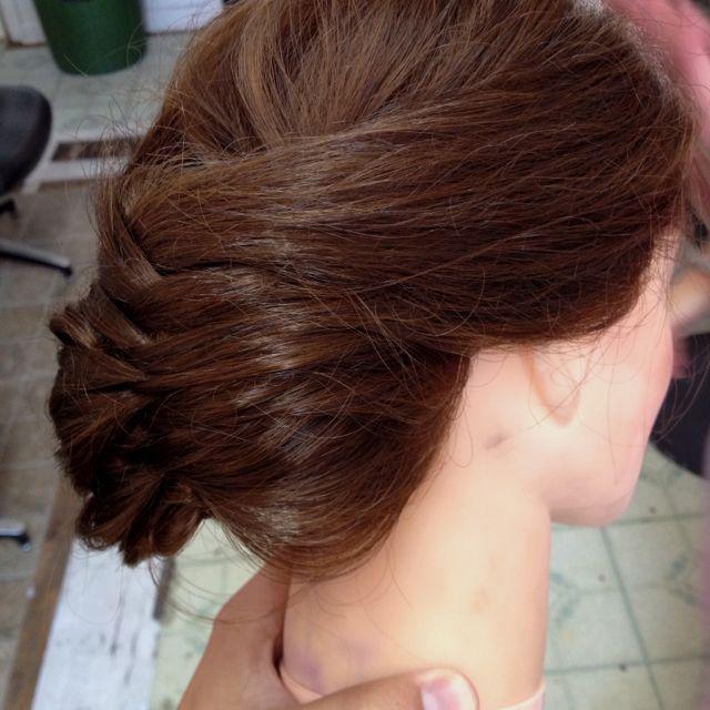 Messy braid updo