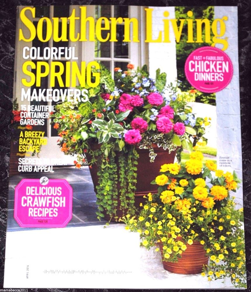 "Southern Home Magazine: Southern Living Magazine ""Colorful Spring Makeovers"" April"