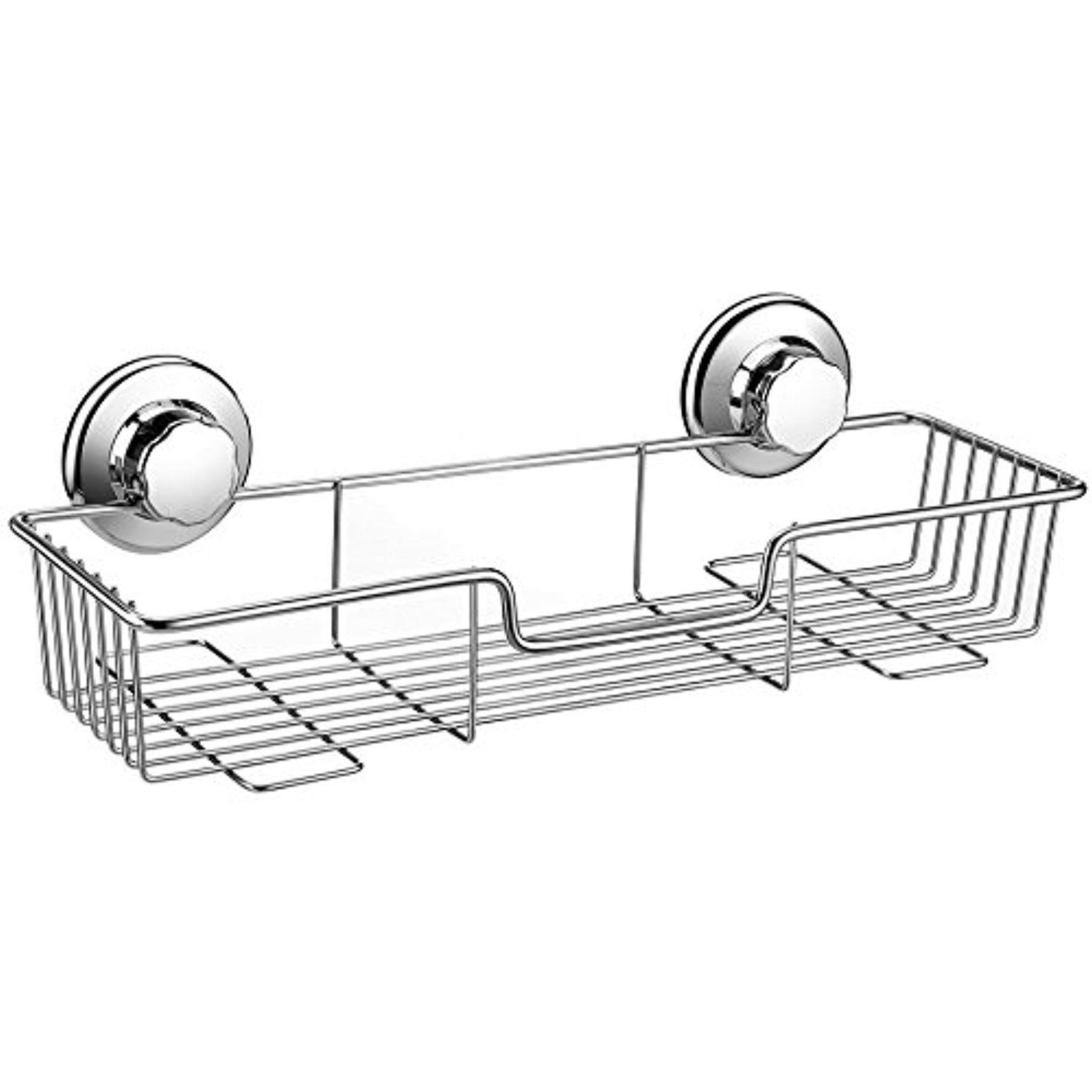 iPEGTOP Vacuum Suction Cup Shower Caddy Shelf Storage Basket Bath ...