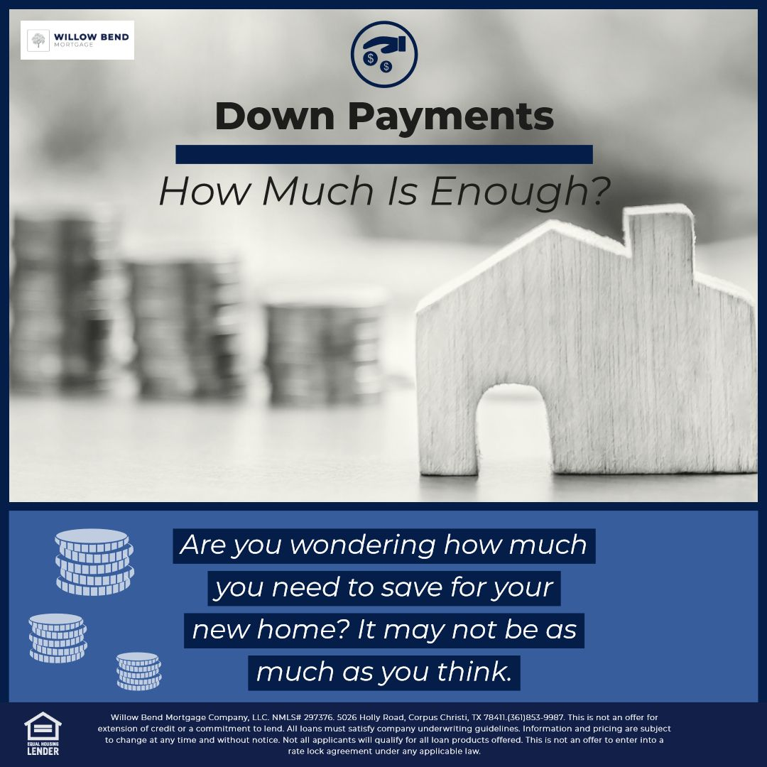 While many believe a 20 down payment is required, that is