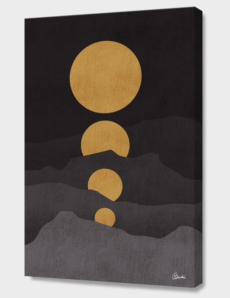 """""""Rise of the Golden Moon"""", Numbered Edition Canvas Print by Budi Satria Kwan - From $89.00 - Curioos"""