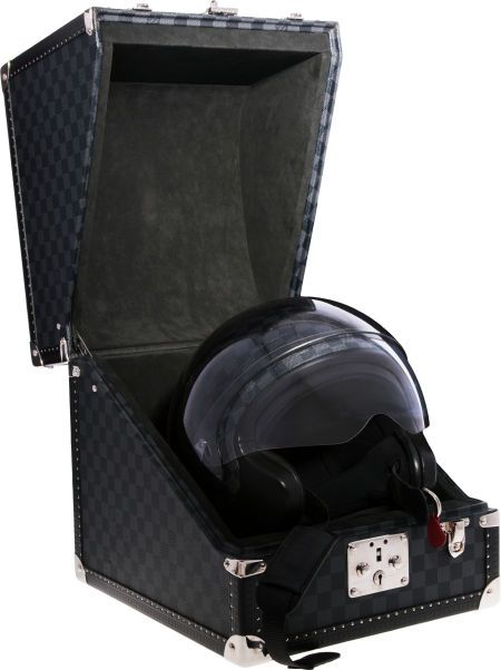 Luxury Accessories:Accessories, Louis Vuitton Limited Edition Damier Graphite Motorcycle Helmet