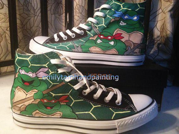 f8d0d607c01e Teenage Mutant Ninja Turtles Converse by EmilyTamHandPainting ...
