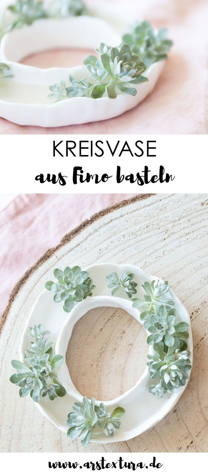 Kleine Vase aus Fimo basteln | ars textura – DIY-Blog #vaseideen