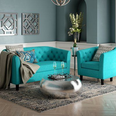 Best House Of Hampton Wilbur 2 Piece Living Room Set In 2019 400 x 300