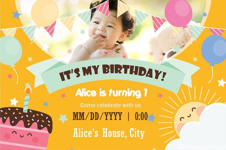 Lovely Birthday Invitation Card Maker Online Birthday Invitations Invitation Card Maker Invitation Cards