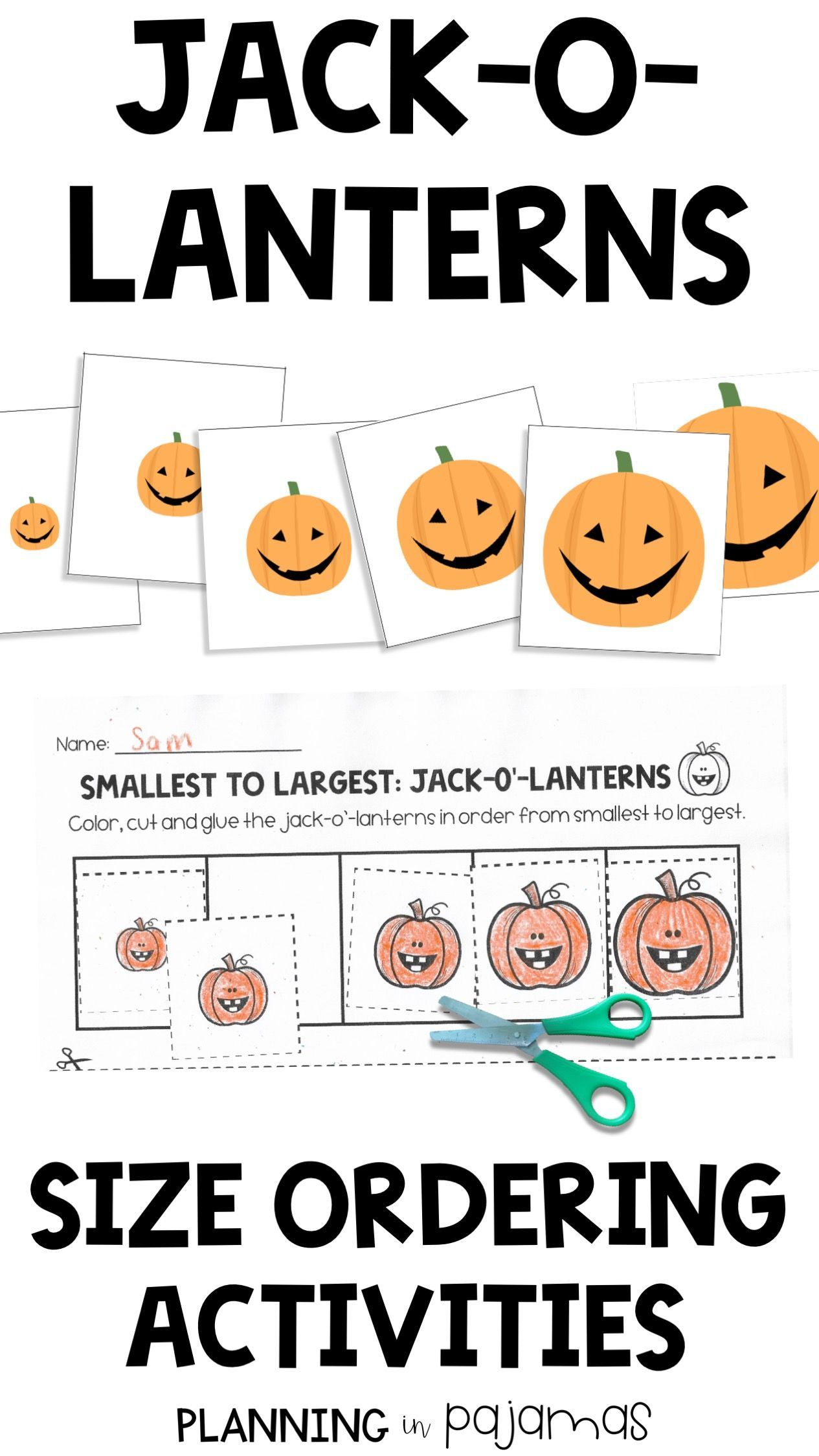 Jack O Lanterns Size Ordering From Smallest To Largest