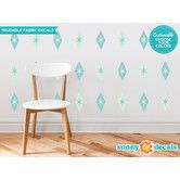Found it at Wayfair - Diamond and Stars Fabric Wall Decals