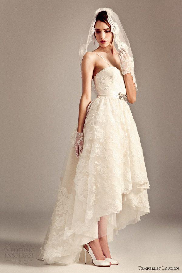 Temperley London Bridal Fall 2014 2015 Iris Pia Short To Long Wedding Dress Honor Veil