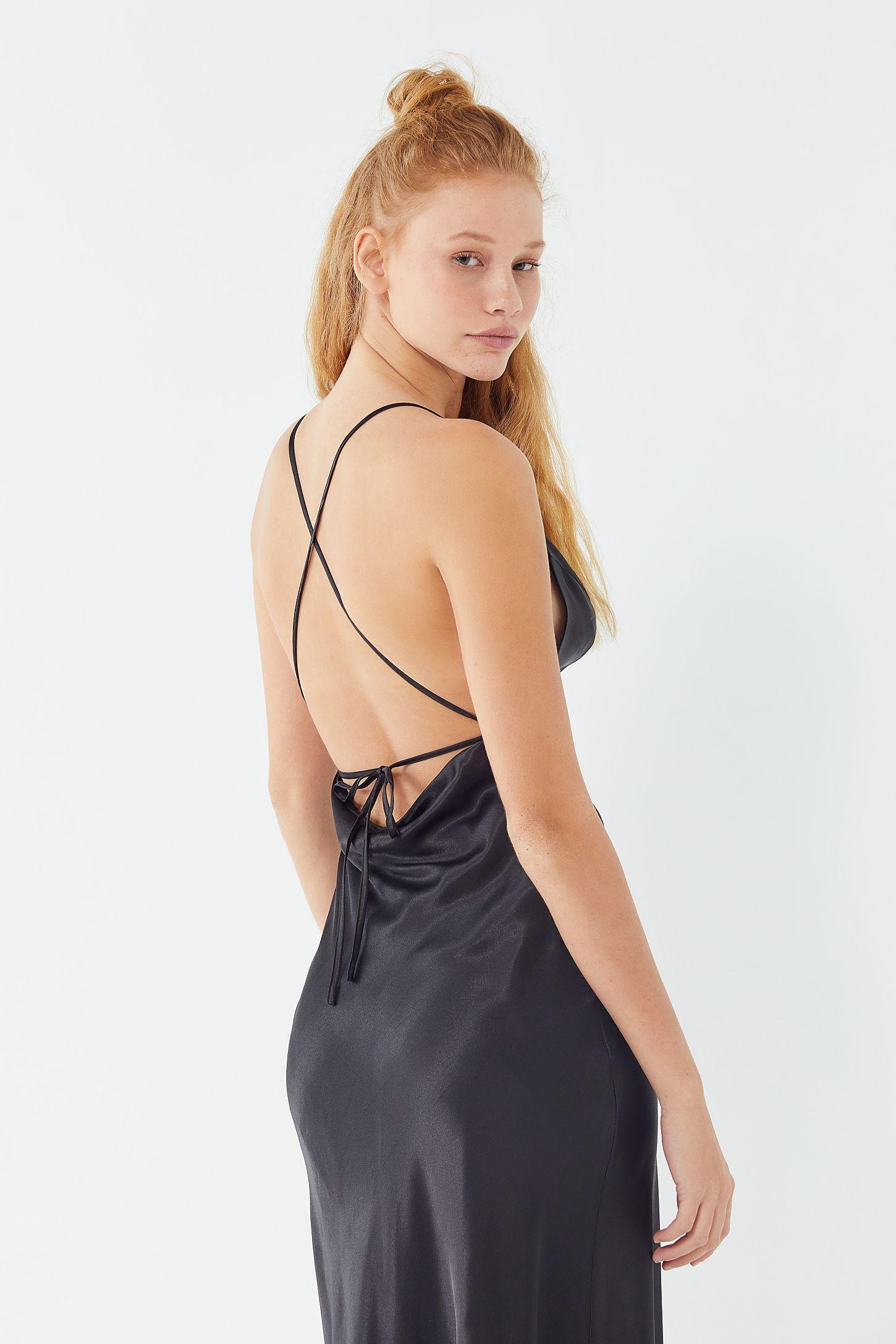 e0d4ceeb4f4 UO Romi Open-Back Maxi Slip Dress in 2019