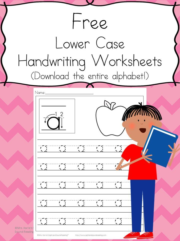 26 Free Preschool Handwriting Practice Worksheets-Easy Download! | Kind