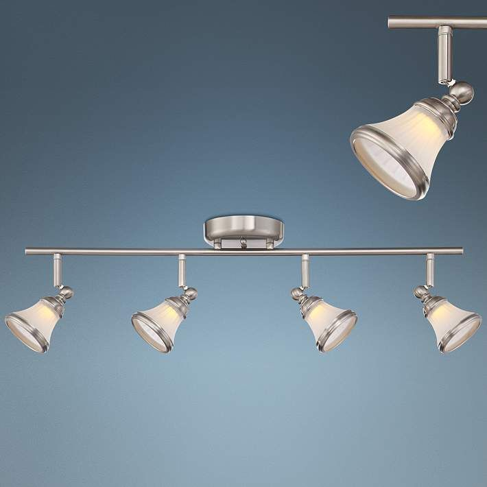 Pro track sam 4 light satin nickel led track fixture 1g450 lamps