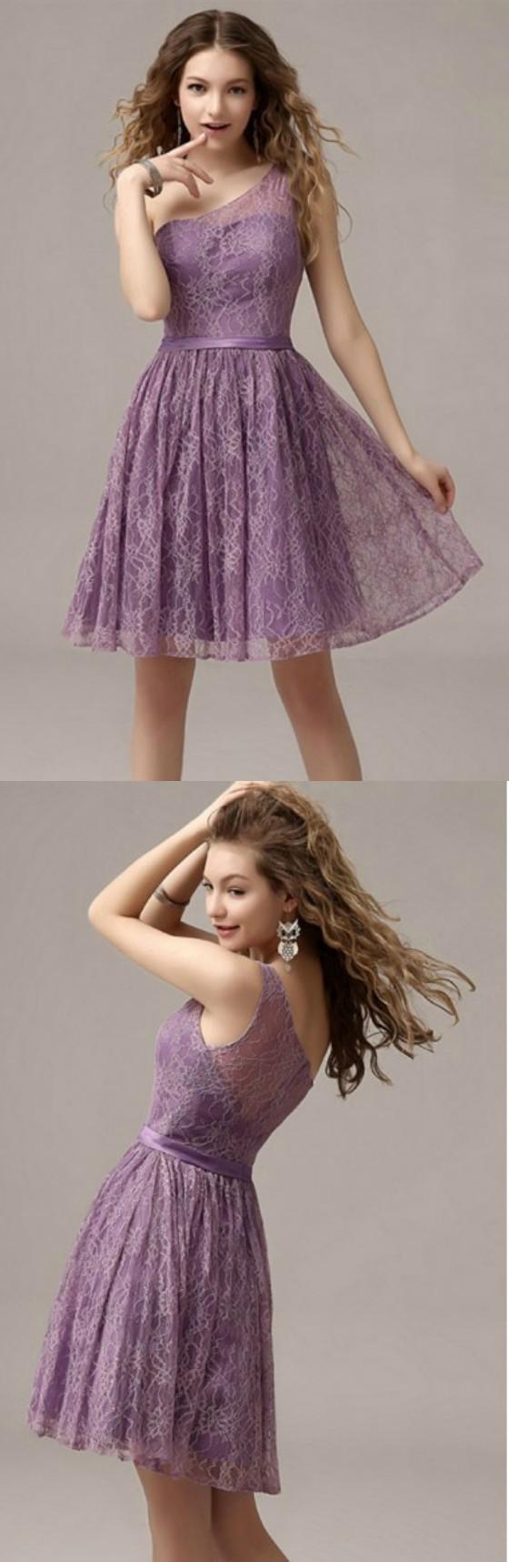 Aline vneck lace kneelength prom dress rn gemgrace