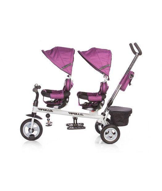 Triciclo para gemelos Chipolino Apollo negro | Bicicleta | Pinterest ...