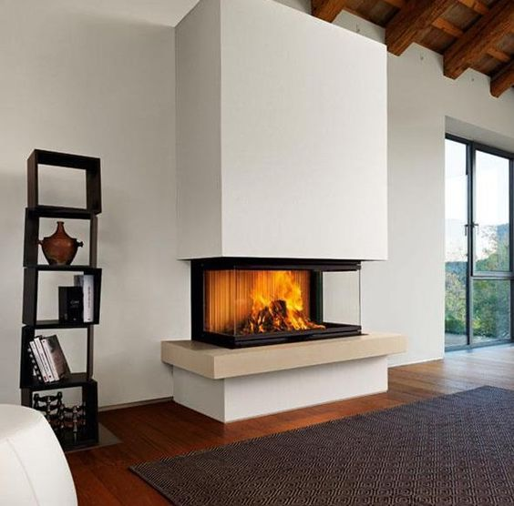 napoleon three sided fireplace images: