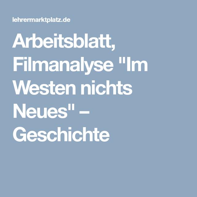 Arbeitsblatt, Filmanalyse | Geschichte Unterrichtsmaterialien ...