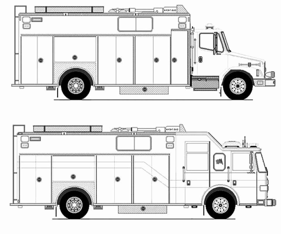 32 Coloring Page Fire Truck | Halloweenfiles.com in 2020 ...