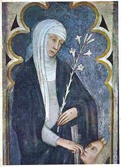 Santa Caterina da Siena dipinto di Andrea Vanni  Basilica di San Domenico