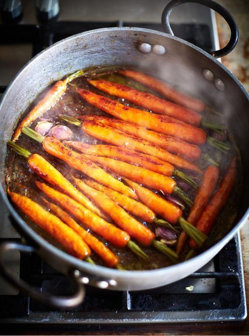 Weihnachtsessen Jamie Oliver.Sweet Glazed Carrots