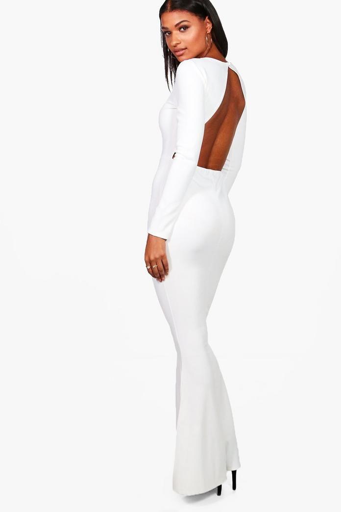 Long Sleeve Open Back Maxi Dress | Maxi dresses, Boohoo and Latest dress