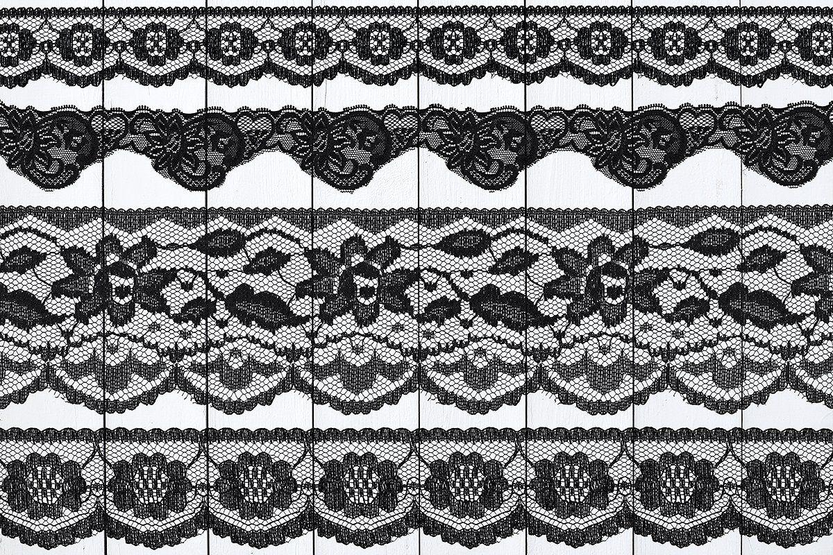 Black Floral Lace Borders Floral Lace Lace Border Black Floral