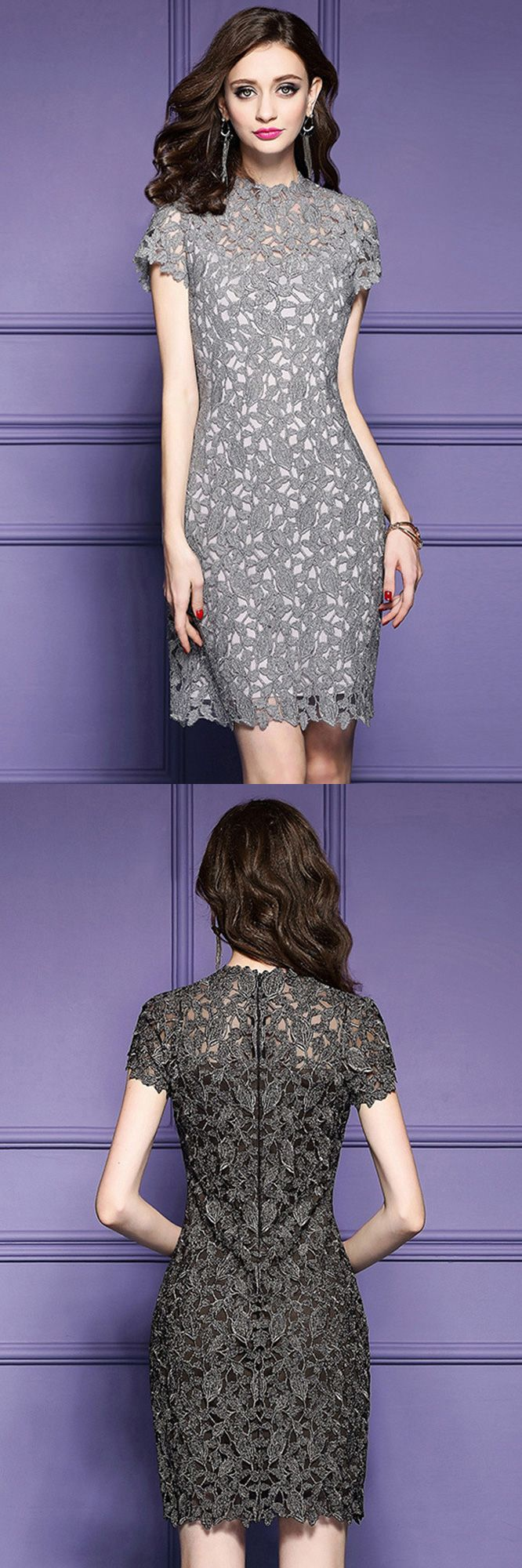 Exlusive Wedding Guest Dresses Luxury Lace Sheath Cocktail