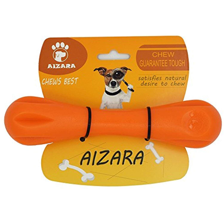 Aizara Durable Rubber Dog Chew Bone Toys For Puppy Small Medium