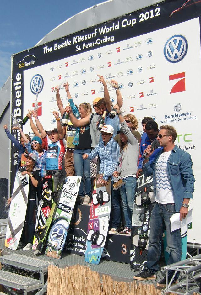 Kitesurf Worldcup 2012 Gruppenfoto aller Sieger