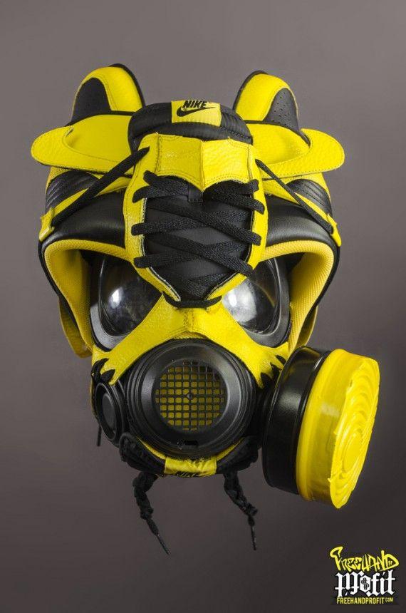 watch 08f67 c3e7b Nike + Air Jordan Wu Tang Tribute Gas Masks by Freehand Profit