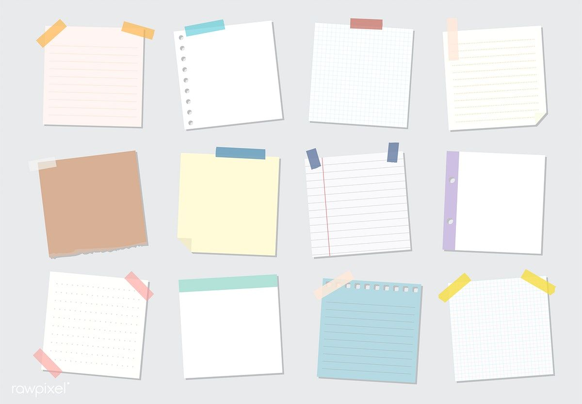 Collection of sticky note illustrations | free image by rawpixel.com / sasi