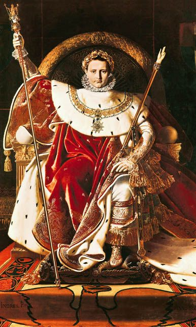 Art Through A Time Napoleon On The Throne French Revolution