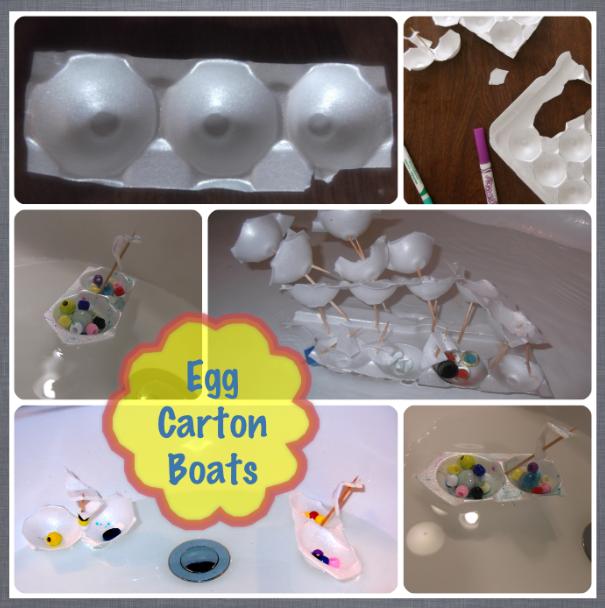 Styrofoam Egg Carton Boats Kid Stuff Crafts For Kids
