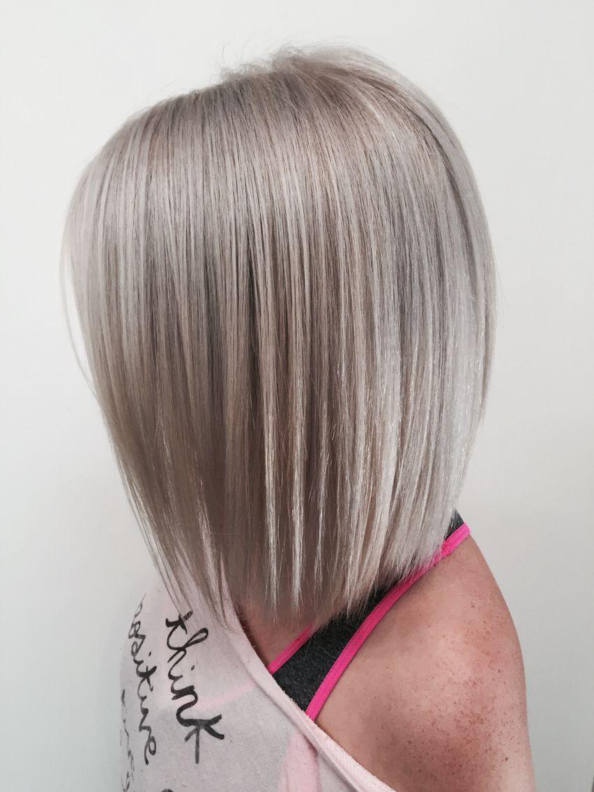 Silver blonde bob hair colours pinterest