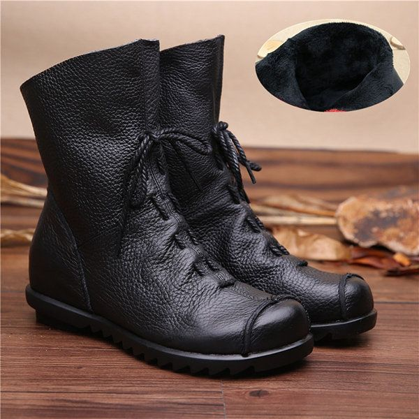 Women Fashion Sexy Zippers Boot Lady's Ankle Boots Comfortable Leather Boots