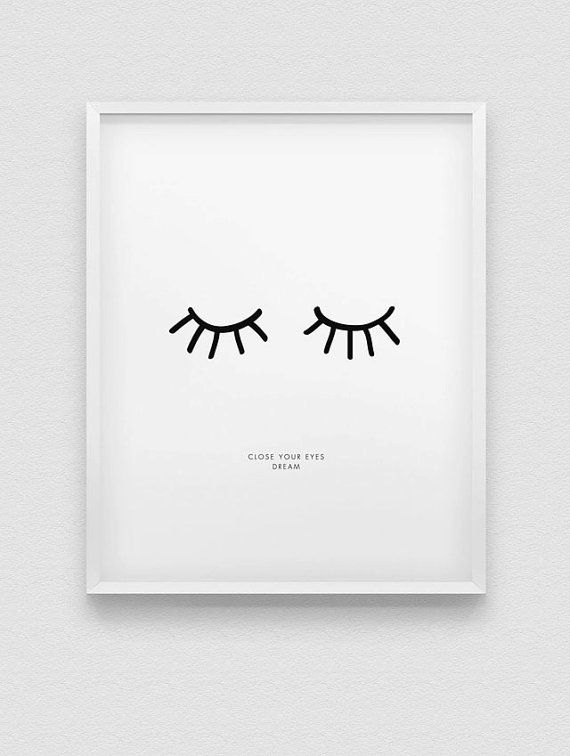 Impresi n de inspiraci n cercano su ojos hacen por for Laminas cuadros estilo nordico