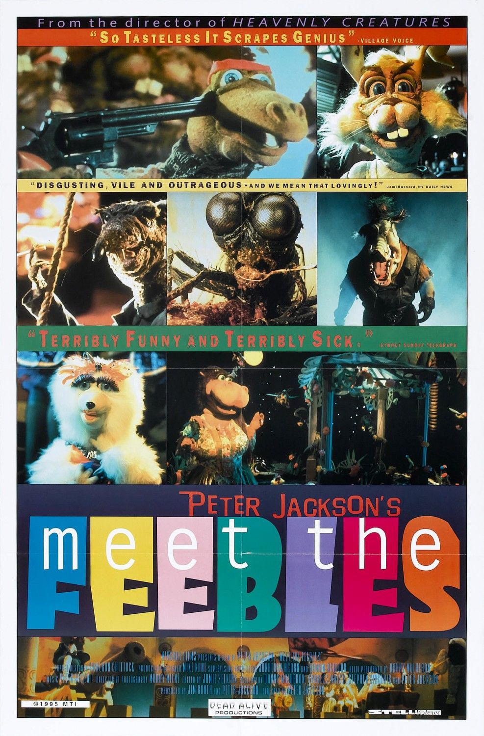 Extra Large Movie Poster Image For Meet The Feebles Good Movies Hello Movie Horror Posters