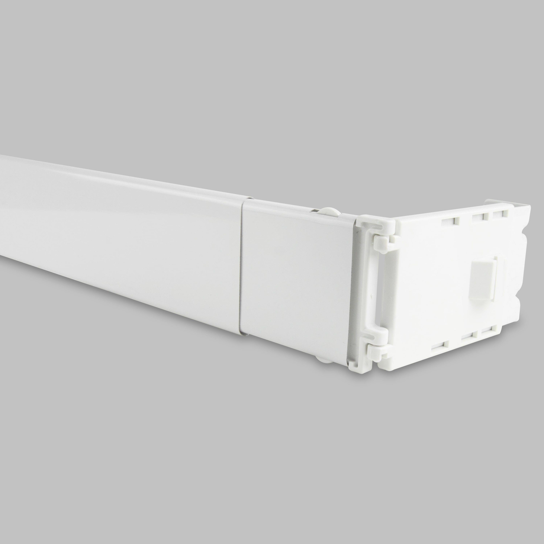 Instyledesign Adjustable Wide Pocket Curtain Rod 84 156 Inch