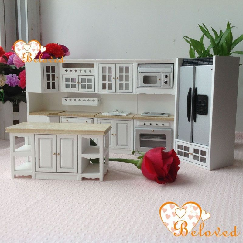 BL 1:12 Dollhouse Miniature DIY Furniture Wood Oak Kitchen