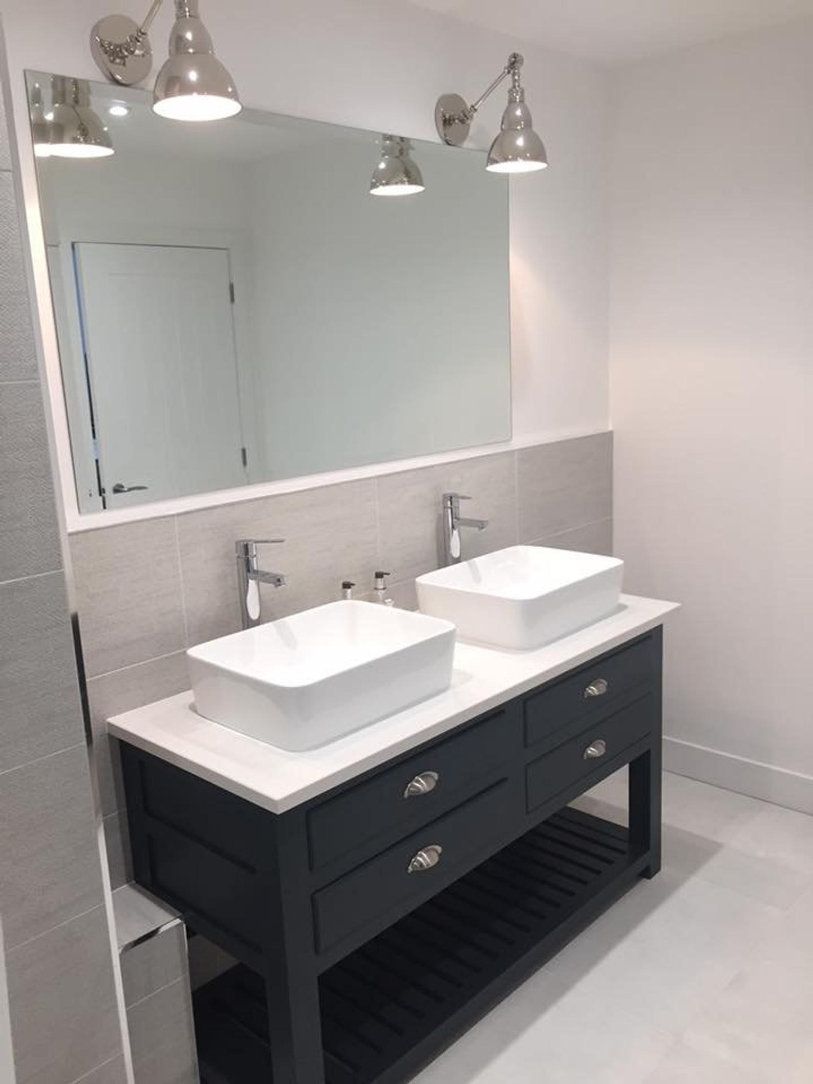 Bespoke Bathroom Vanity Unit With A Quartz Worktop Made To Order